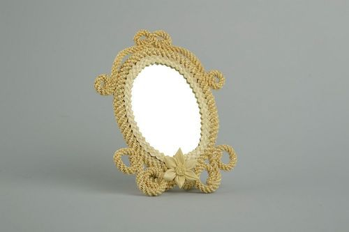 Straw mirror with holder - MADEheart.com