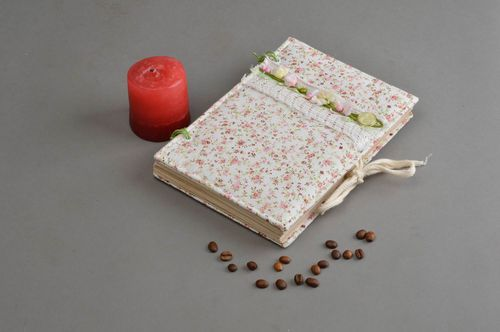 Handmade notepad designer textile notebook for recipes ideas for decor - MADEheart.com