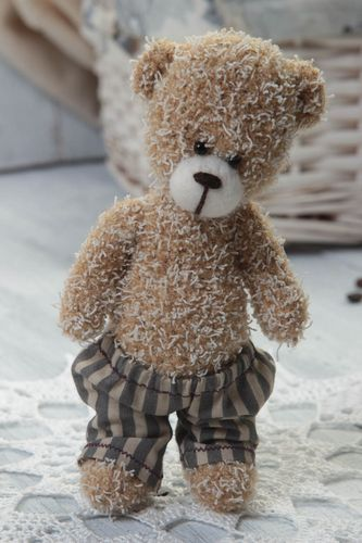 Handmade toy designer toy bear toy unusual gift decor ideas gift for baby - MADEheart.com