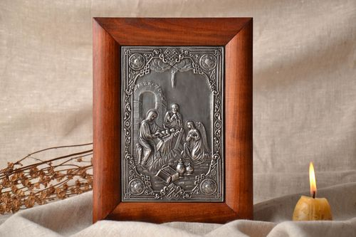 Orthodox silvered icon - MADEheart.com