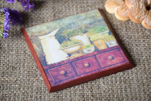 Handmade table decor plywood stand for cup decoupage ideas decorative use only - MADEheart.com