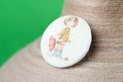 Cute handmade fabric button needlework accessories handmade plastic buttons - MADEheart.com