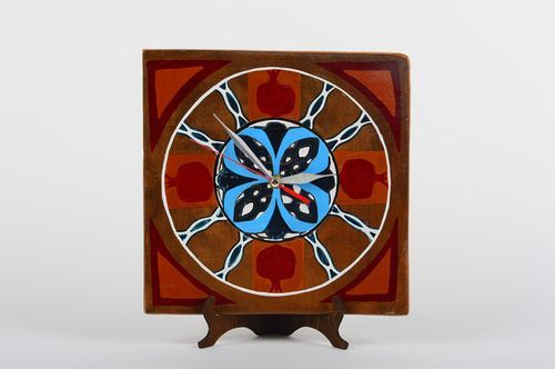 Handmade ceramic clock funky wall clock interior decorating gift ideas - MADEheart.com