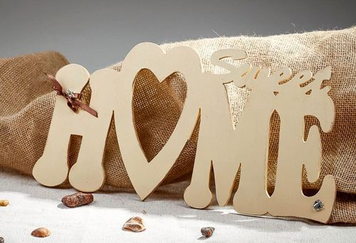 Chipboard lettering for scrapbooking Sweet HOME - MADEheart.com