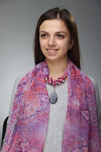 Silk scarf with natural stones - MADEheart.com