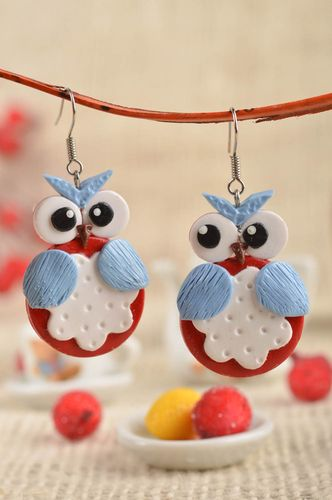 Handmade plastic earrings fashion accessories beautiful jewellery small gifts - MADEheart.com