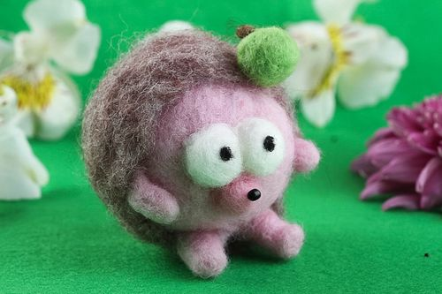 Handmade felted wool toy cute soft toy home decoration decorative use only - MADEheart.com