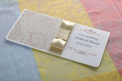 Wedding invitation card - MADEheart.com
