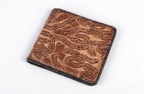 Handmade wallet for men gift ideas unusual purse for men leather wallet - MADEheart.com