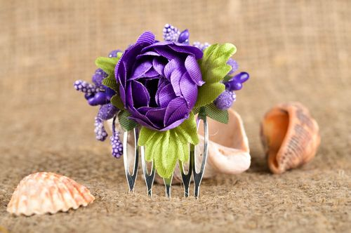 Handmade designer hair comb unusual stylish accessory cute tender hair comb - MADEheart.com