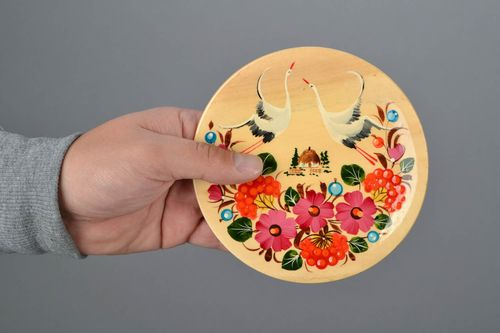 Wooden wall plate Storks - MADEheart.com