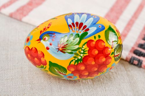 Unusual handmade painted Easter egg wooden egg room ideas decorative use only - MADEheart.com