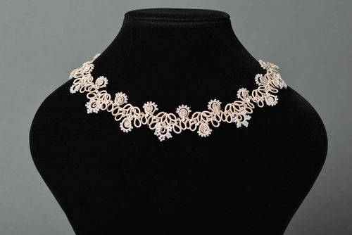 Handmade jewelry fashion necklaces for women tatting lace gifts for women - MADEheart.com