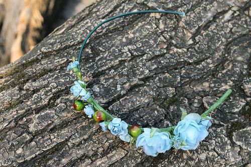 Wreath Blue flowers - MADEheart.com