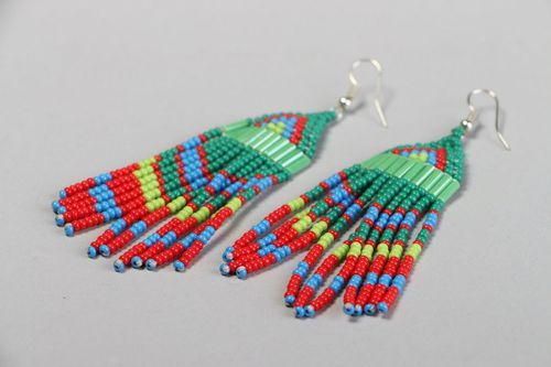 Bright earrings in ethnic style - MADEheart.com