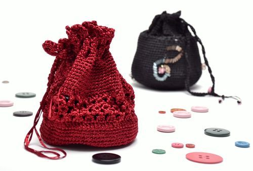 Red knitted cocktail bag - MADEheart.com