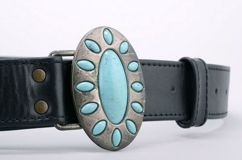 Womans belt Turquoise - MADEheart.com