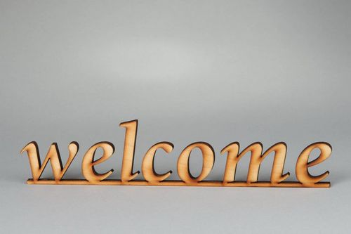Chipboard palabra Welcome - MADEheart.com