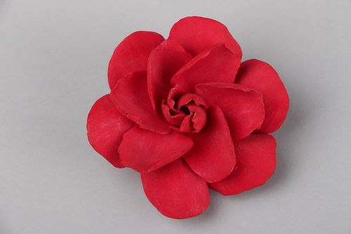 Brooch-clip in the shape of a flower - MADEheart.com