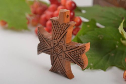 Cross necklace for men wooden jewelry accessories for men religious gifts - MADEheart.com