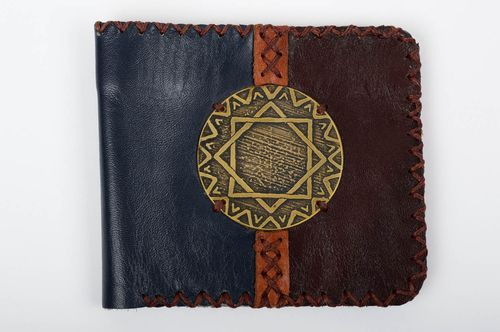 Stylish handmade leather wallet unusual wallet fashion accessories leather goods - MADEheart.com