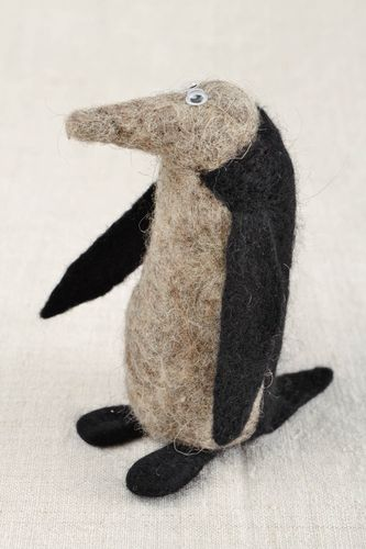 Felt toy handmade soft toy penguin animal figurine handmade gift ideas - MADEheart.com