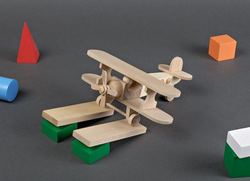 Wooden toy Plane - MADEheart.com