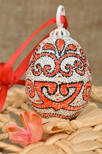 Beautiful homemade designer painted wooden Easter egg for interior decor - MADEheart.com