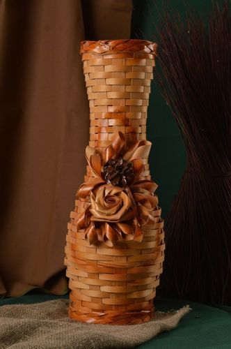 Small handmade woven vase art works home living gift ideas decorative use only - MADEheart.com