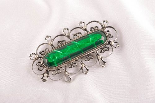 Vintage brooch handmade metal brooch metal jewelry elegant brooch for women - MADEheart.com