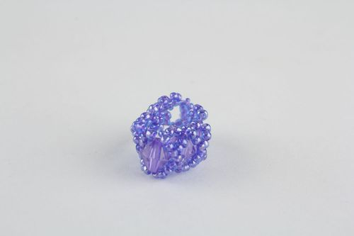 Violet beaded ring - MADEheart.com