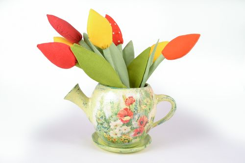 Ceramic flowerpot in the shape of teapot - MADEheart.com