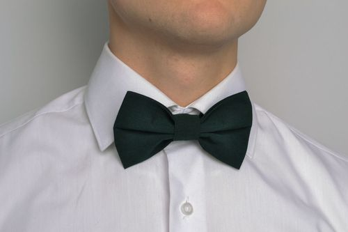 Classic grey and green bow tie - MADEheart.com