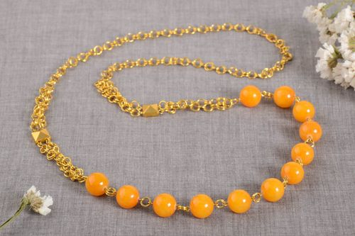 Handmade beaded necklace gemstone bead necklace beautiful jewellery gift ideas - MADEheart.com