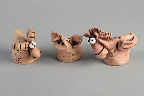 Handmade ceramic whistles unusual clay toys stylish ethnic nursery decor - MADEheart.com