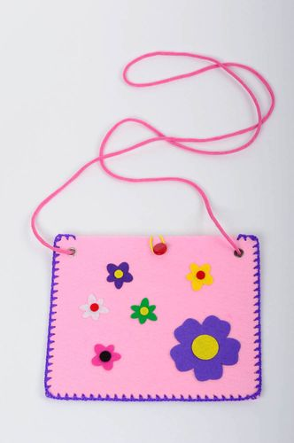 Handmade woolen purse for baby small shoulder bag felted purse present for girls - MADEheart.com