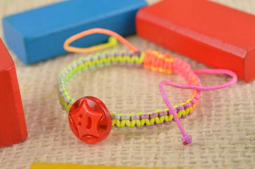 Colorful handmade bracelet stylish woven bracelet cute jewelry gift for her - MADEheart.com