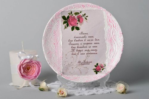Handmade decoupage plate kitchen decor ideas home decor decorative use only - MADEheart.com