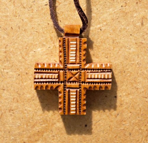 Wooden Pectoral Croos - MADEheart.com