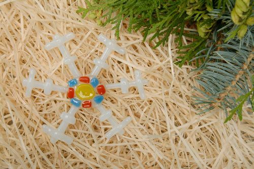 New Years decoration Multi-colored snowflake - MADEheart.com