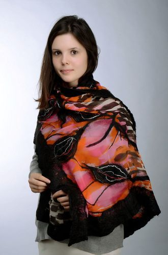 Scarf made from wool aand silk - MADEheart.com