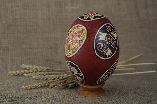Painted ostrich egg Dnieper Easter eggs - MADEheart.com