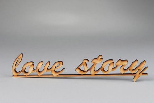 Chipboard lettering love story - MADEheart.com