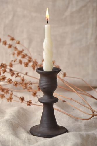 Ceramic candlestick for one candle - MADEheart.com