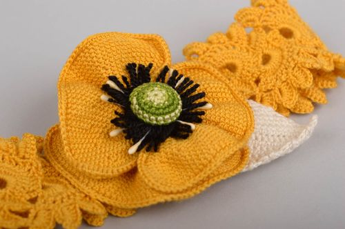 Unusual handmade crochet headband flower headband hair band gifts for her - MADEheart.com