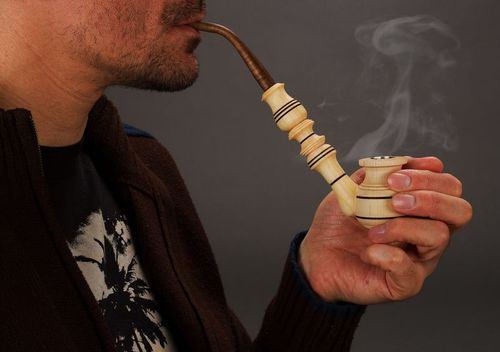 Wooden smoking pipe decorative use only - MADEheart.com