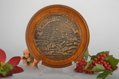 Handmade decorative plate rustic home decor wall plate wooden gifts wall hanging - MADEheart.com