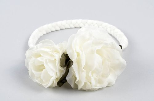 Stylish handmade headband flowers in hair designer hair accessories small gifts - MADEheart.com