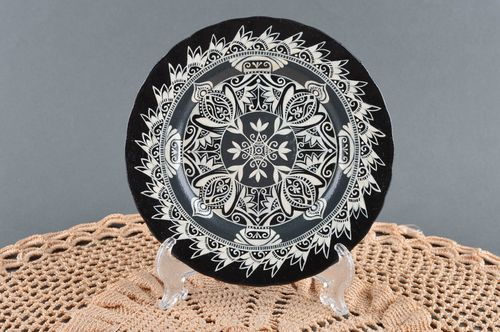 Decorative plate handmade plate large dish painted plate decorative use only - MADEheart.com