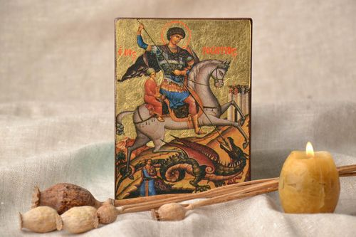 Saint George the Victorious icon reproduction - MADEheart.com